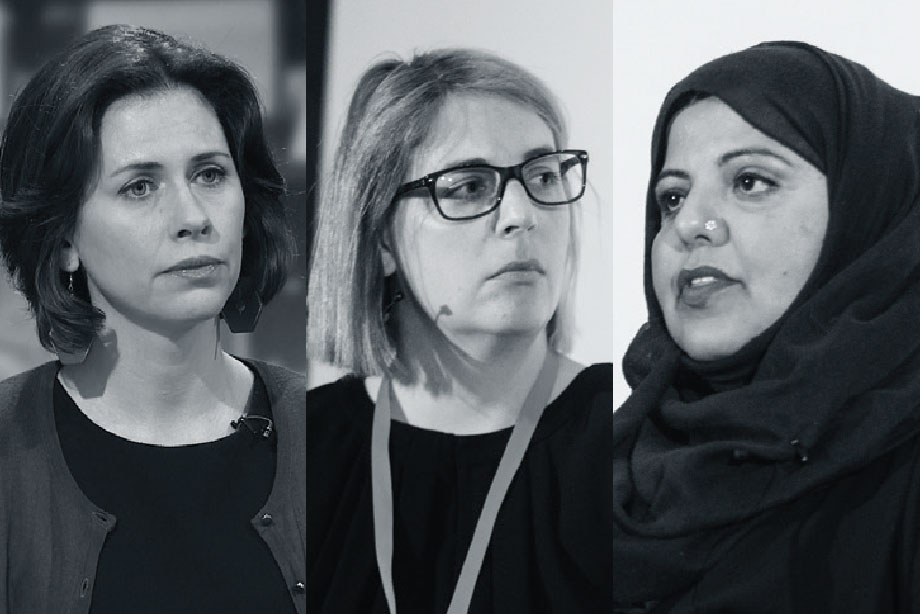 Three whistleblowers: (left to right) Helen Evans, Alexia Pepper de Caires, Shaista Aziz (Photographs: ITN/Getty Images, Alex Deverill)