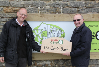Managing director of the trust Paul Taylor (right) at the Stirley Open Day 2013