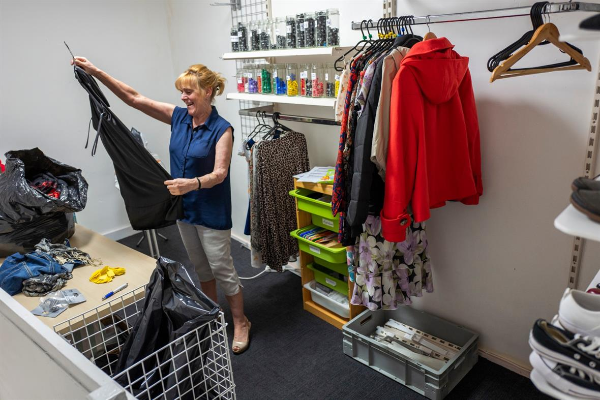 A charity shop volunteer (Photograph: Anthony Devlin/Getty Images)
