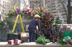 Park in Philadelphia 'flower-bombed' by local event company