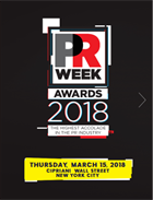 PRWeek U.S. Awards 2018: Book of the Night