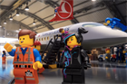 Watch: The Lego Movie 2 cast demonstrate safety on Turkish Airlines flights