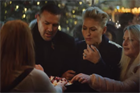 Paddy McGuinness and Emma Willis sample Christmas markets for M&S