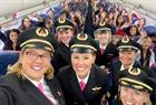 Why an all-female Delta crew flew 120 girls to NASA