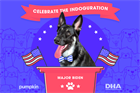 Inside Pumpkin Pet Insurance's 'indoguration' event for Major Biden