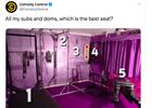 Which brand did the best 'best seat' tweet?