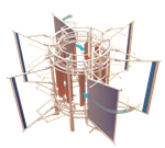 GVWT:  Augmented guided vane vertical axis wind turbine