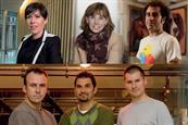 TOP: Tracy De Groose, Amelia Torode, Faris Yakob | BOTTOM: John Harlow, Jon Wilkins, Will Collin