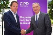 Peter Cheese (l) of the CIPD and Kevin Costello (r) of Haymarket