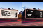 Rebel Kitchen tells Trump to 'F Off' in outdoor ads