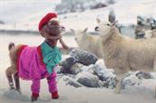 TK Maxx enlists garish goat for festive ad