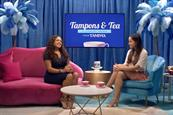 Tampax: ad discusses correct tampon applicator insertion