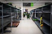 Empty shelves: panic-buying depriving more considerate shoppers of staples
