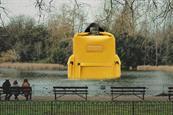 Hunter hides giant backpacks around London