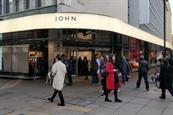 John Lewis has rebranded its Oxford Street signage today