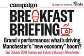 Campaign to host Manchester breakfast on brand v performance