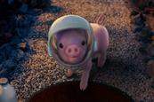 Moonpig: helmeted pig greets man on Father's Day