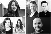 Clockwise from top left: Stephen de Wolf, Karen Blackett, Clare Peters, Demet Ikiler, Iain Preston, David Hackworthy