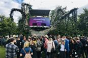 Utilita creates giant tree installation for festival activation