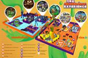 Nickelodeon: the experience is made up of  interactive zones