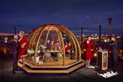 Virgin Atlantic partners Coppa Club for airport lounge igloo pop-up