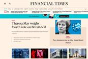 Financial Times attracts one million paid readers