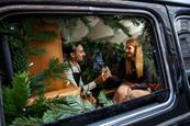Schweppes transforms London black cab into miniature bar