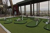 Eiffel Tower hosts golf putting course to celebrate Ryder Cup