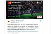 Mastercard drops 'goal-for-meals' campaign after backlash