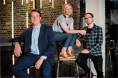 (l-r) Alex Cowell, chief technology officer; Caitlin Evans, senior planner; Jack Gallon, creative director
