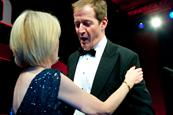 Mail's Rosemary Gorman and Alastair Campbell share a moment