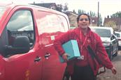 Rapping postwoman gives a modern ode to fatherhood in Royal Mail film