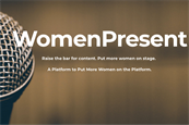 How the WomenPresent initiative aims to get more female speakers on stage