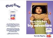 "Petits Filous ""Peel, lick, play free"" by Grey London"
