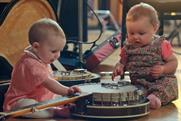 Cow & Gate babies and toddlers display their musical talent in the ad