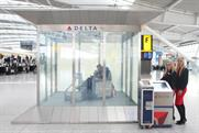 Delta: promotes business class and cross-Atlantic routes at Heathrow Terminal 5