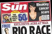 The Sun on Sunday: posts lowest-ever circulation