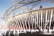 London's Olympic Stadium: artist's impression of how the wrap will look
