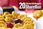 McDonalds: unveils Chicken McNuggets ShareBox today