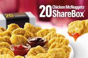 McDonalds: unveils Chicken McNuggets ShareBox today