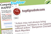 Twitter: Top Tips supports Cancer Research UK