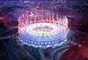 The Olympic Stadium started its transformation this week