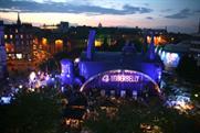 The Udderbelly inflatable venue in Edinburgh, Scotland
