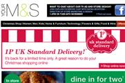 Marks & Spencer drives online shopping with 1p offer