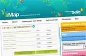aMap: online argument widget by Rubber Republic
