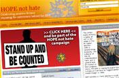 Hope Not Hate: website dedicated to blocking BNP's European parlimentary bid