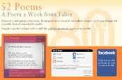 Faber and Faber: launches 52 Poems Facebook widget