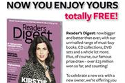Readers Digest: ad celebrates new ownership