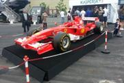 F1 cars were on display for fans