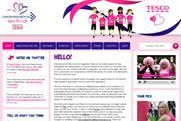 Tesco: Race for Life website